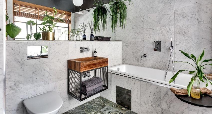 Bilik mandi gabungan: reka bentuk dalaman, susun atur dan ...